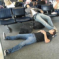 dormir aeropuerto