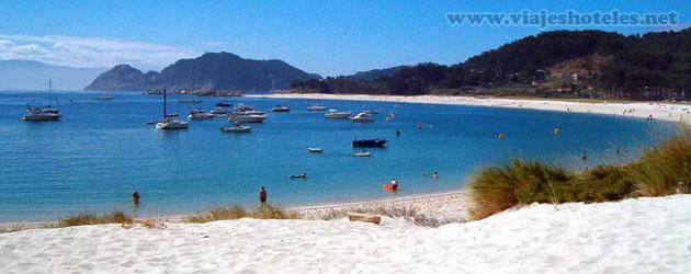Playa de Meduiña, ría de Aldán