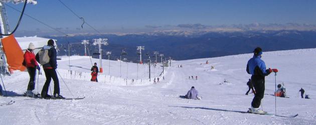 Estacion de esqui de Manzaneda (Ourense)